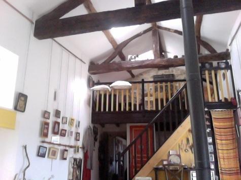 Trap naar mezzanine vanuit atelier